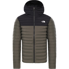 The North Face Stretch Down Hoodie Jacket Men new taupe green/tnf black